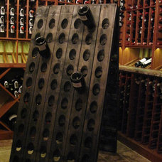 Traditional Wine Cellar by Kessick Wine Cellars