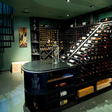 Contemporary Wine Cellar by kevin akey - azd architects - michigan