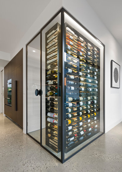 Contemporary Wine Cellar by Constructing Spaces