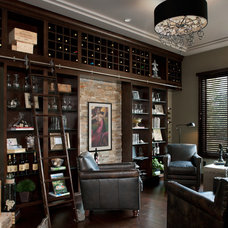 Contemporary Wine Cellar by Moceri Homes