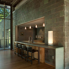 Contemporary Wine Cellar by Vermont Structural Slate Company