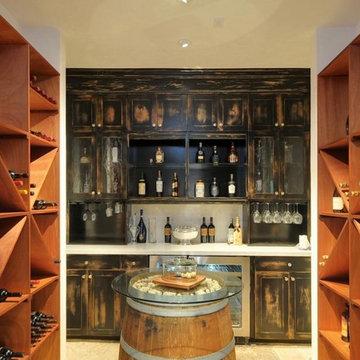Kitchen, Wine cellar, and front door