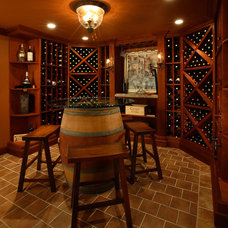 Contemporary Wine Cellar by Anthony Albert Studios