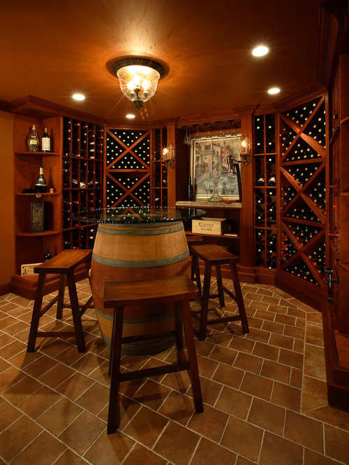 cellar lighting. inspiration for a contemporary brown floor wine cellar remodel in new york with diamond bins lighting i