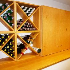 Midcentury Wine Cellar by Klopf Architecture