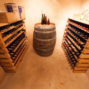Exemple d'une cave à vin nature.