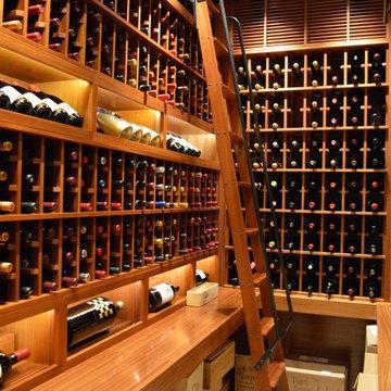 La Jolla San Diego California Wine Cellar Custom Wine Room Wine Wall Modern