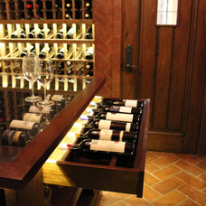 Traditional Wine Cellar by hetherwick hutcheson design