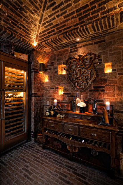 Mediterranean Wine Cellar by GRADY-O-GRADY Construction & Development, Inc.