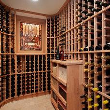 Traditional Wine Cellar by Fieldcrest Builders Inc