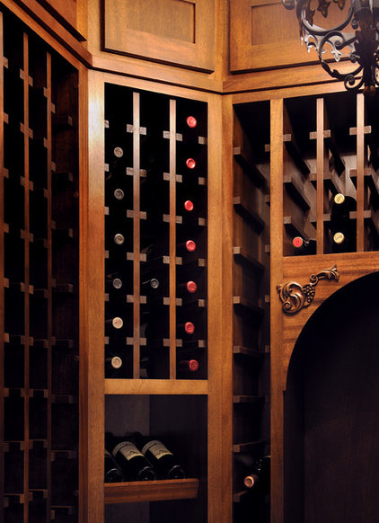 Transitional Wine Cellar by Lake Country Builders