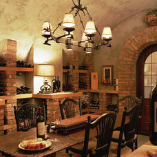Traditional Wine Cellar by Morgan-Keefe Builders, Inc.