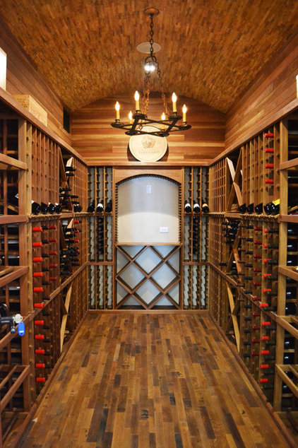 Traditional Wine Cellar by Butterfield Custom Homes