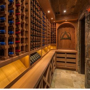 Minimalist wine cellar photo in Sacramento
