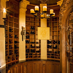 mediterranean wine cellar by Vanguard Studio Inc.