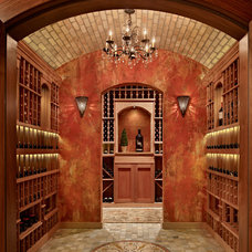 Mediterranean Wine Cellar by Gelotte Hommas Architecture