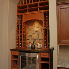 Mediterranean Wine Cellar by Landmark Builders