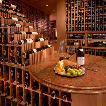 Large Traditional Beverly Hills, Los Angeles Large Walk in Custom Wine Cellar Ru