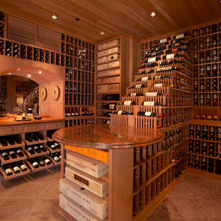 Large Traditional Beverly Hills, Los Angeles Large Walk in Custom Wine Cellar Ru