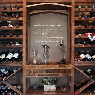 Réalisation d'une cave à vin craftsman.