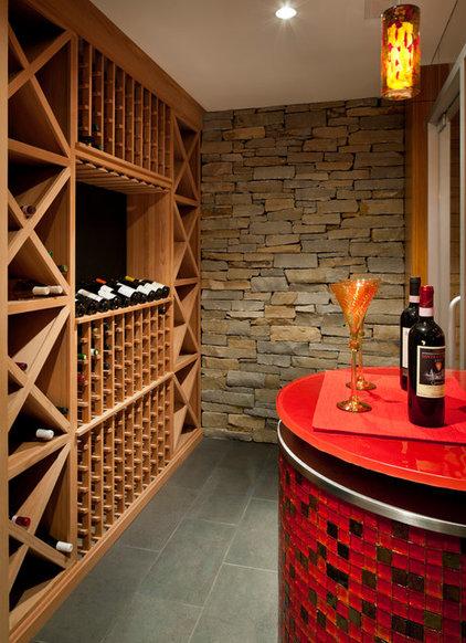 Modern Wine Cellar by LDa Architecture & Interiors