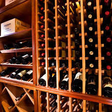 Traditional Wine Cellar by Case Design & Remodeling Indy