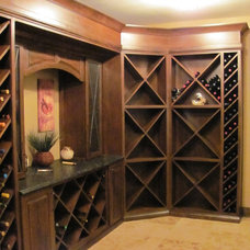 Traditional Wine Cellar by Alisa McPheron