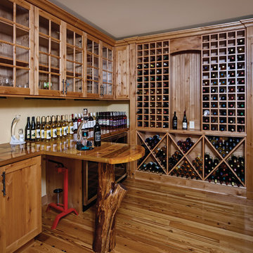 LEED Gold Handcrafted Log Home: The Norwood Residence - Wine Cellar