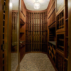 Contemporary Wine Cellar by LG Construction + Development
