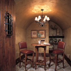 Traditional Wine Cellar by Markay Johnson Construction