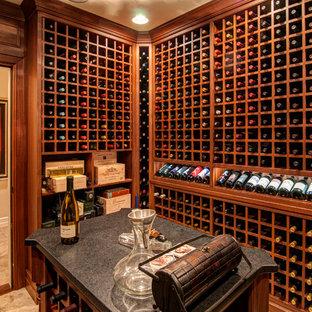 Réalisation d'une cave à vin tradition.