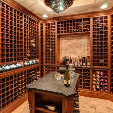 Modern Wine Cellar by Farinelli Construction Inc