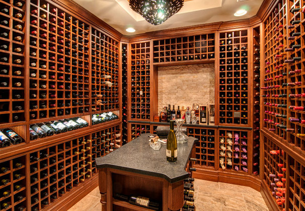 Modern Wine Cellar by Farinelli Construction Inc