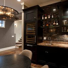 Transitional Wine Cellar by Stonebridge Development Group