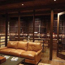 Contemporary Wine Cellar by Wine Cellar Innovations