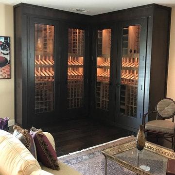 Living Room Wine Showcase