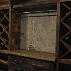 Eclectic Wine Cellar by Shane Robison Designs