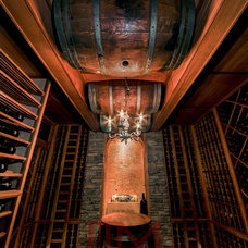 Mediterranean Wine Cellar by Joseph and Curtis Custom Wine Cellars