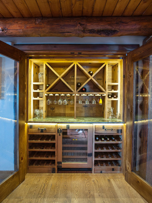 Small rustic wine cellar design ideas remodels photos for Small basement wine cellar