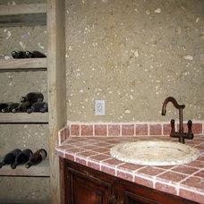 Mediterranean Wine Cellar by Marina Hanson Design