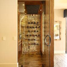 Mediterranean Wine Cellar by Pekarek Crandell Architects