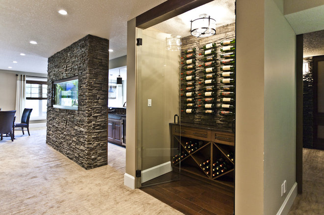 Contemporary Wine Cellar by Marcson Homes Ltd.
