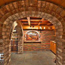 Eclectic Wine Cellar by Luxe Wine Cellars