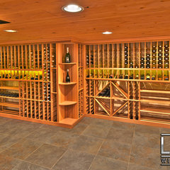 contemporary wine cellar by Luxe Wine Cellars