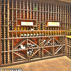 Modern Wine Cellar by Luxe Wine Cellars