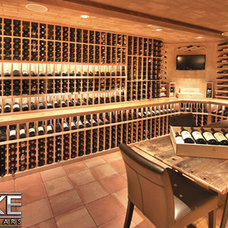 Modern Wine Cellar by Luxe Wine Cellars