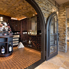 eclectic wine cellar by John Kraemer & Sons
