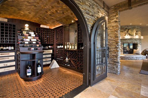 Rustic Wine Cellar by John Kraemer & Sons