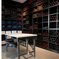 modern wine cellar by madeleine boos, architecture + interiors LLC