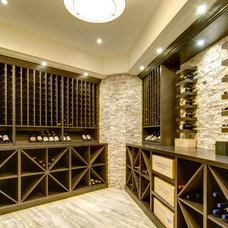 Traditional Wine Cellar by Rockwood Custom Homes